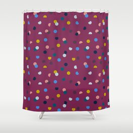 Purple Confetti Spot Shower Curtain