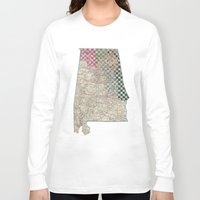 alabama Long Sleeve T-shirts featuring Alabama by judy lee