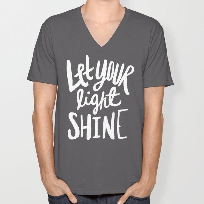 Let Your Light Shine x Mint Unisex V-Neck