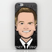 how i met your mother iPhone & iPod Skins featuring Barney Stinson - How I Met Your Mother by Mathieu Marcou