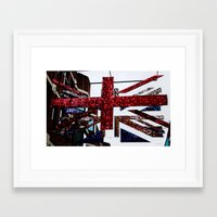 patriots Framed Art Prints featuring Shining Patriots by PintoQuiff