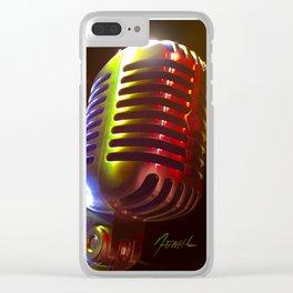 Mic Me Clear iPhone Case