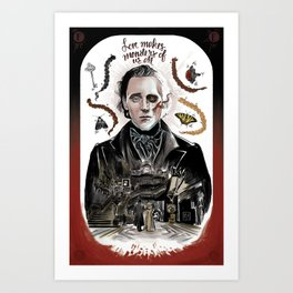 Love Makes Monsters of us All Art Print