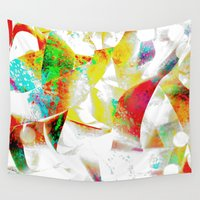 silver Wall Tapestries featuring Silver by Yilan