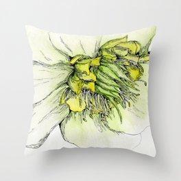 Watercolor Helleborus Throw Pillow