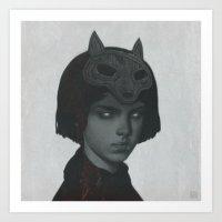 werewolf Art Prints featuring Werewolf by yurishwedoff