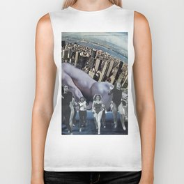 In a New York Minute  - Vintage Collage Biker Tank