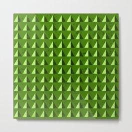 Green Hills Geometric Metal Print