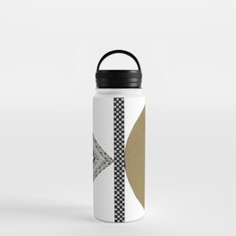 Geometric Shapes with Gold, Copper and Silver Water Bottle