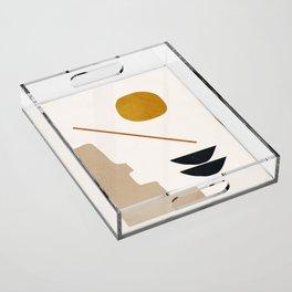 abstract minimal 6 Acrylic Tray