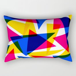 CMYK Shard Rectangular Pillow