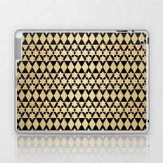 Black and Gold Geometric Pattern 4 Laptop & iPad Skin