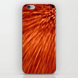 Burnt Orange Pixel Wind iPhone Skin