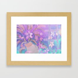 Mom The Kitty Just knocked Over Your Flowers! Framed Art Print