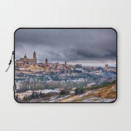 Segovia in Spain snowed in winter. Laptop Sleeve