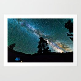 Sequoia Night Sky Art Print