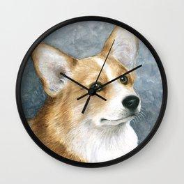 Dog 89 Corgi Dog Wall Clock