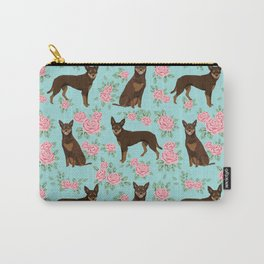 Kelpie florals dog breed cute gifts pattern dog lover pet portraits pet friendly designs Carry-All Pouch
