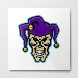 Court Jester Skull Mascot Metal Print