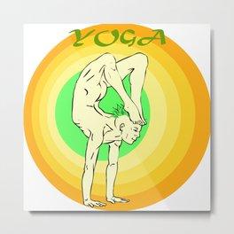 Yoga: asana Metal Print