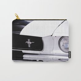 Black and White Mustang Carry-All Pouch