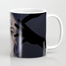 Bury A Friend | Billie Eilish Digital Portrait Dark Coffee Mug
