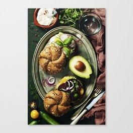 Healthy sandwiches Canvas Print