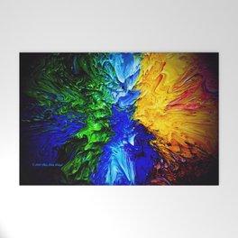 """Gas Flame"" Digital Print Welcome Mat"