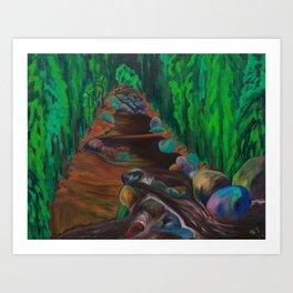 The Creek in Chilliwack Art Print