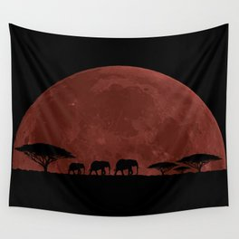 Elephant Moon Wall Tapestry