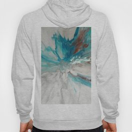Blown Away - Abstract Acrylic Art by Fluid Nature Hoody