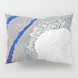 The Path - an abstract, textured piece in neutrals by Jacob von Sternberg Art Pillow Sham