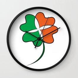 Irish Clover Wall Clock