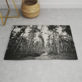 the path through the forest ...  Rug