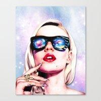 iggy azalea Canvas Prints featuring Iggy Azalea- Pink/Purple by Tiffany Taimoorazy