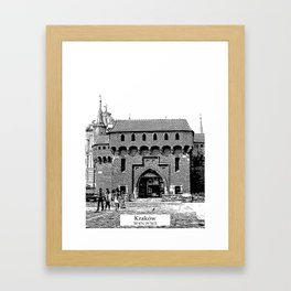 Krakow minimal city #cracow #krakow Framed Art Print