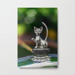 Cat Bonnet Mascot Metal Print