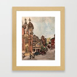 """""""Little Italy, Cleveland""""  Ohio Painting Framed Art Print"""