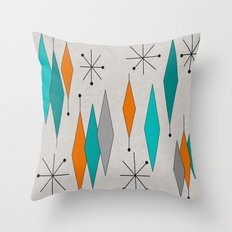 Mid-Century Modern Diamond Pattern Throw Pillow