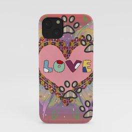 Huellas de amor iPhone Case