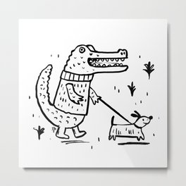 Croc Walk Metal Print