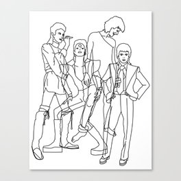 Davie Bowie Line Print Canvas Print