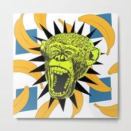This Monkey is Bananas Print  Metal Print