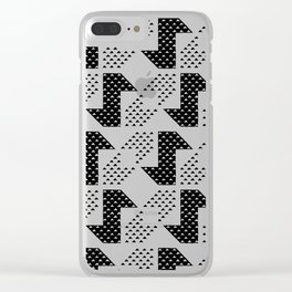 Clover&Nessie Black/White Clear iPhone Case
