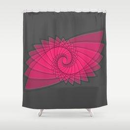 hypnotized - fluid geometrical eye shape Shower Curtain