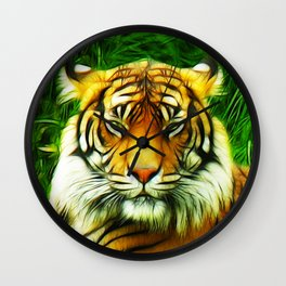 Tiger is Not Amused Wall Clock