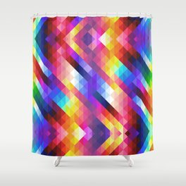 HIPSTER GEOMETRY Shower Curtain
