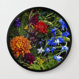 FLORAL DREAM of AUGUST Wall Clock