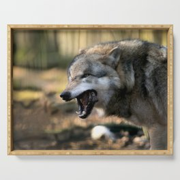 The wolf is hungry Serving Tray