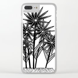 Spikey Pointy Flower Clear iPhone Case